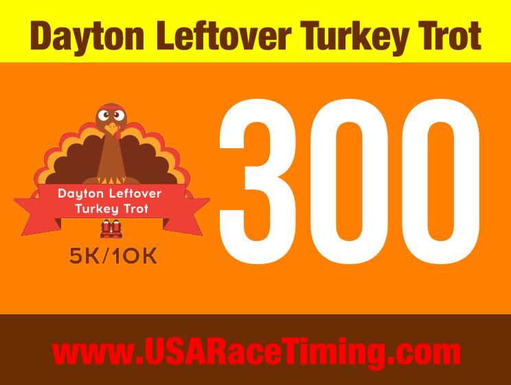Dayton Turkey Trot Race Bib