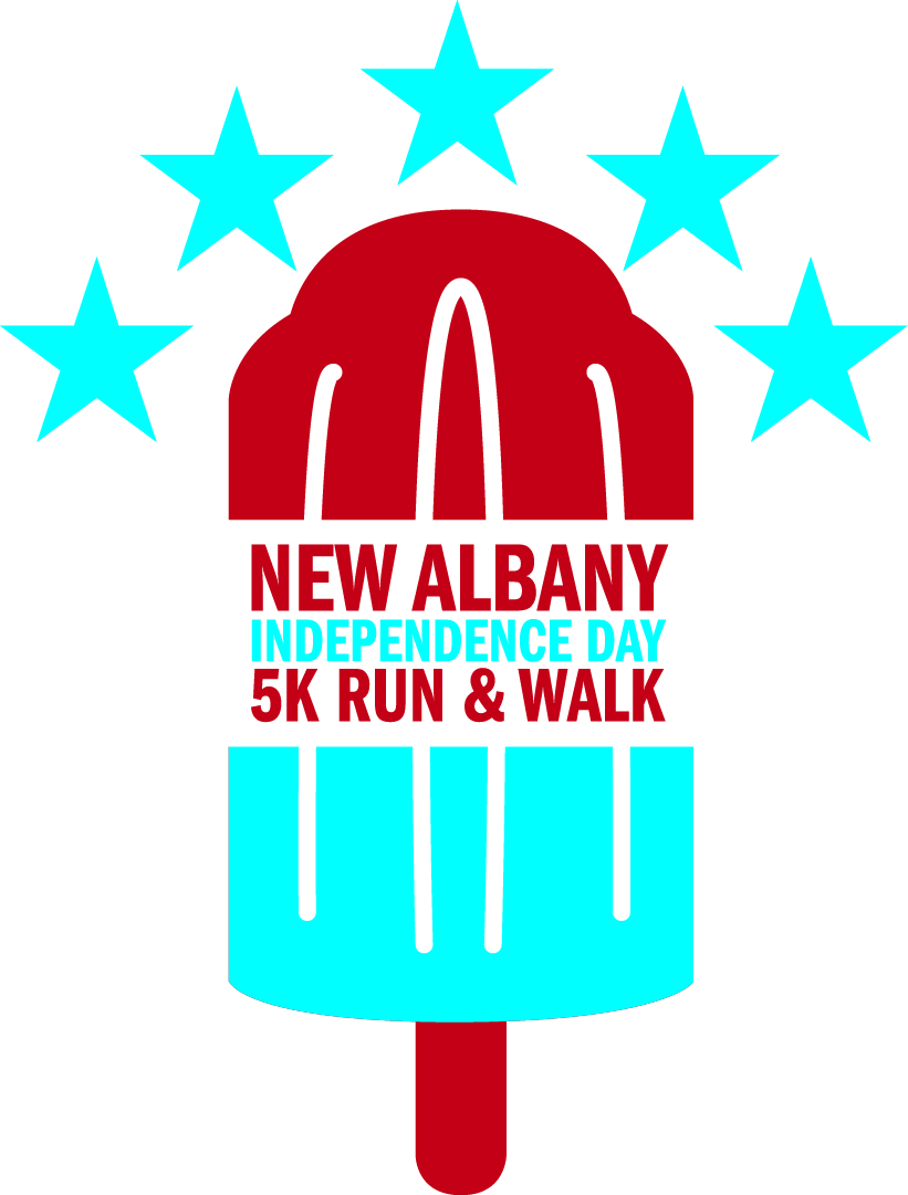 New Albany Symphony Orchestra Independence Day 5k Bombpop Logo