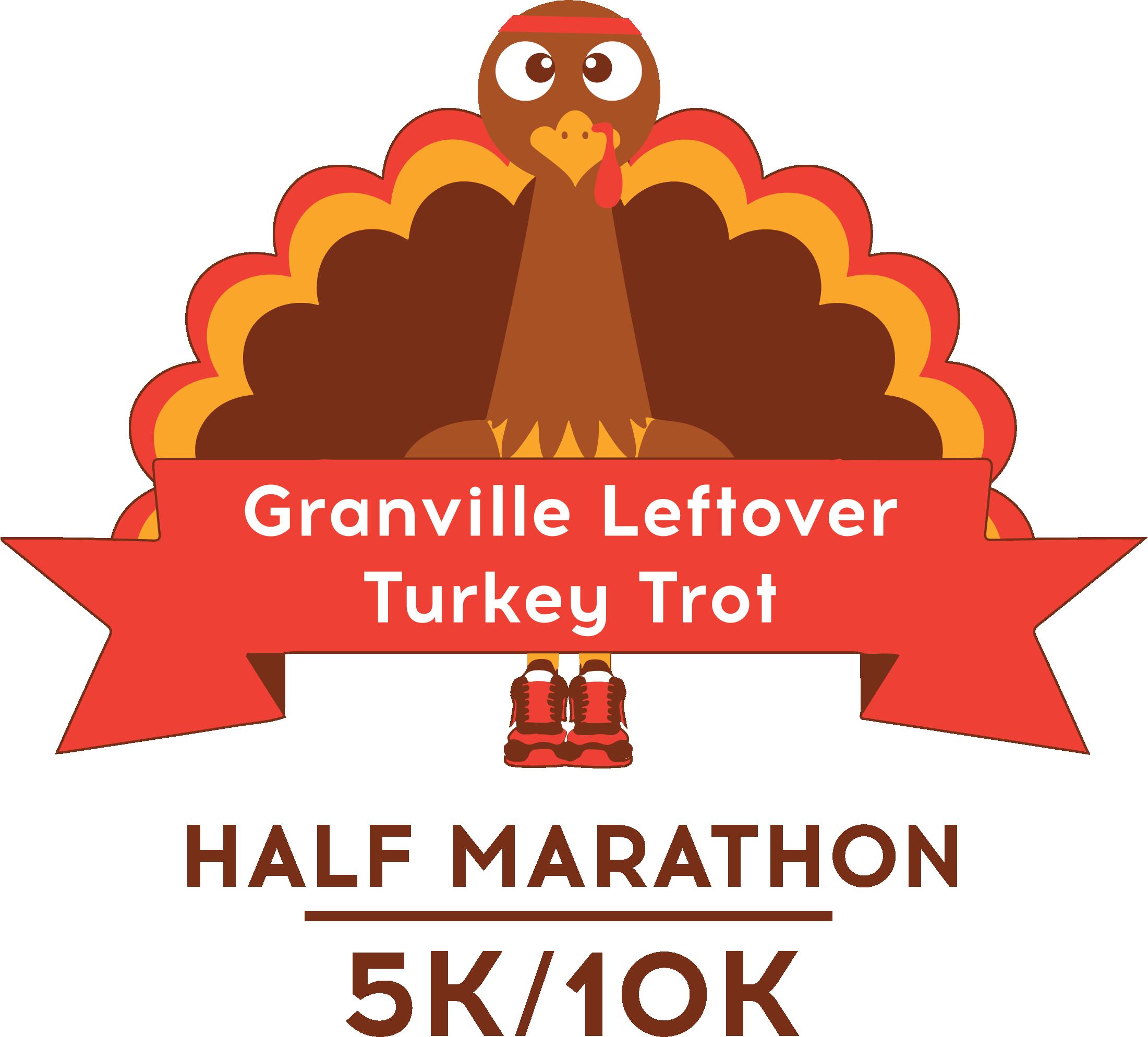 Granville Leftover Turkey Trot Logo Half Marathon, 10k and 5k Race Event in Ohio