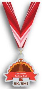 Lancaster Turkey Trot Acrylic Finishers Medal