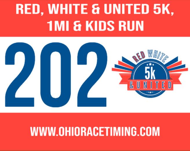 United Way 5k 1mi Race Bib - ohioracetiming.com - USA Race Timing & Event Management