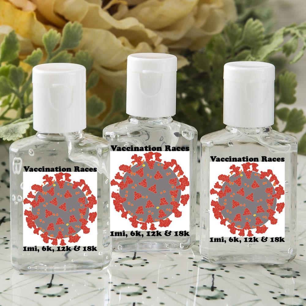 Vaccination Races Branded Hand Sanitizer For All Participants - 1mi, 6k, 12k & 18k Half Marathon
