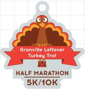 Half Marathon, 10k, 5k and Kids Fun Run - Granville Johnstown Alexandria Turkey Trot Finishers Medal